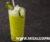 Granizado casero de limón y durazno